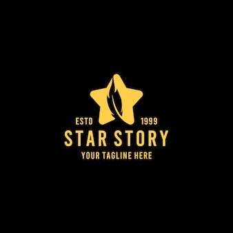 星のロゴが付いたクリエイティブなスターフェザー