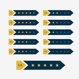 Creative star rating symbol design vector