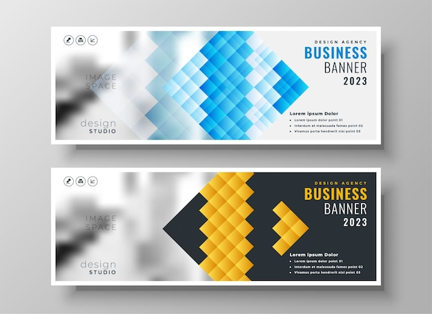 Creative style business facebook cover template design
