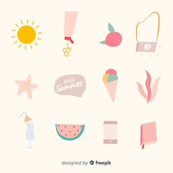 Creative summer element collection