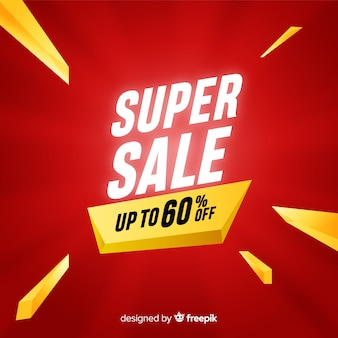 Creative super sale banner concept