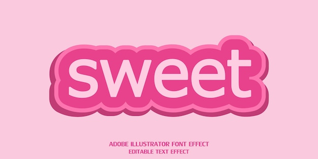 Creative sweet text style effect editable