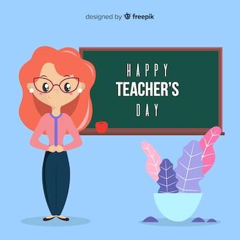 Creative teachers day background