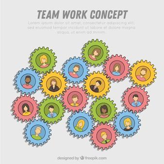 Concetto di lavoro di squadra creativo