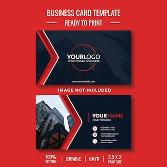 Creative template business car design with photo
