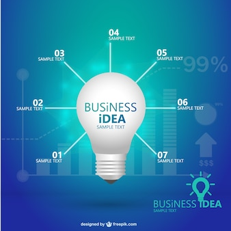 Creative template lightbulb infographic