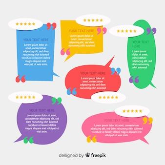 Creative testimonial in speech bubble design