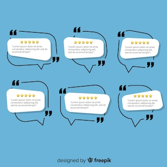 Creative testimonial in speech bubble design