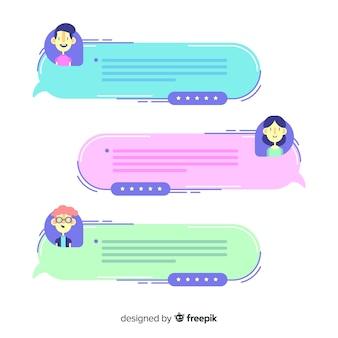 Creative testimonial in speech bubble shape
