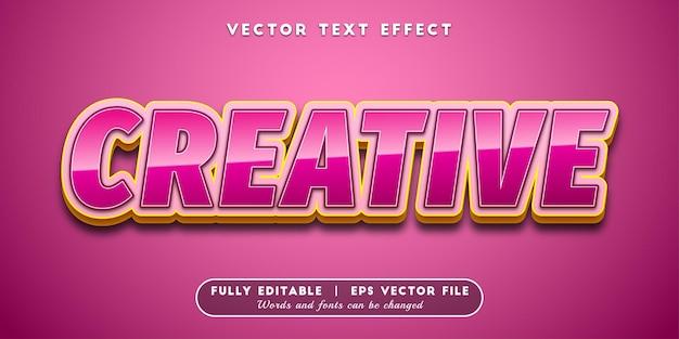 Creative text effect, editable text style
