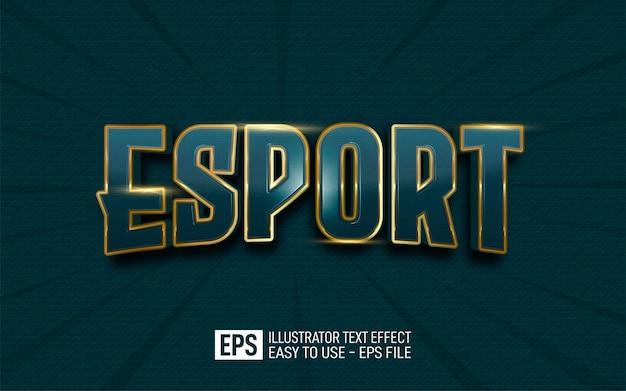 Creative text esport, editable style effect template