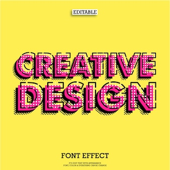Creative text poster tittle design