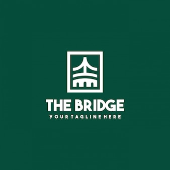 Креативный дизайн логотипа моста