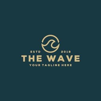 クリエイティブな波のロゴデザイン