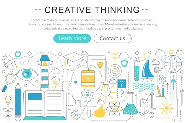 Creative thinking concept