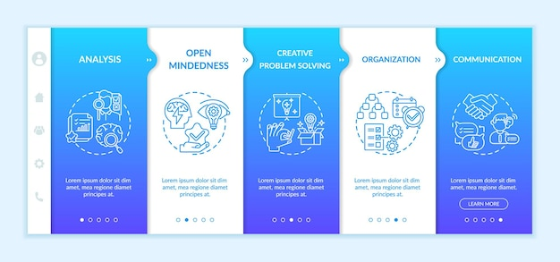Creative thinking types onboarding template