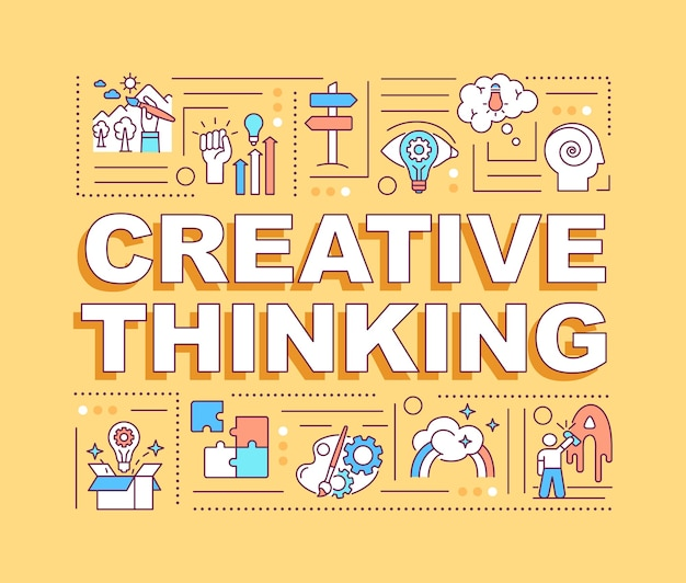 創造的な思考の言葉の概念のバナー