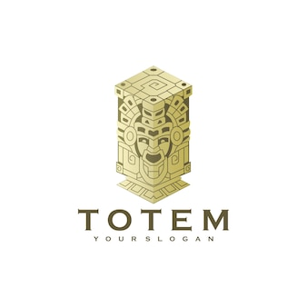 Creative totem logo with minimalist color concept. for logo inspiration
