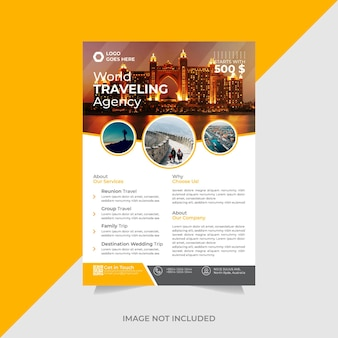 Creative travel agency flyer template