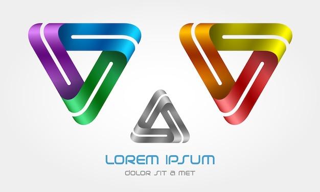 Креативный логотип в форме треугольника