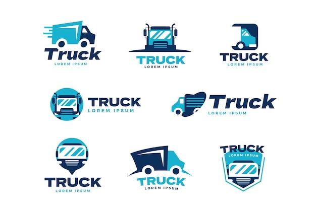 Креативные шаблоны логотипов грузовиков