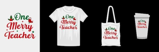 クリエイティブなタイポグラフィtシャツのデザイン。クリスマスの日のカラフルなtシャツのデザイン。