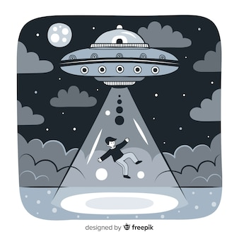Creative ufo background