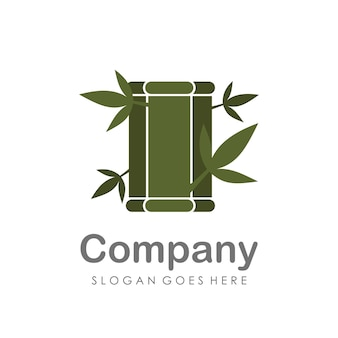 Creative and unique bamboo tree logo design template