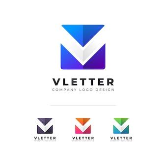 Creative v letter logo