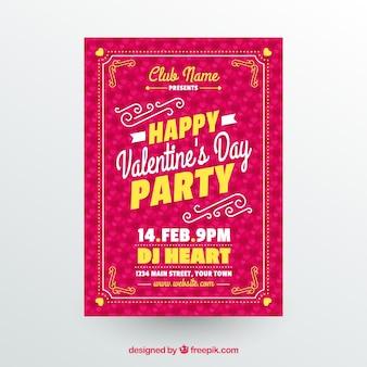 Creative valentine flyer template Free Vector