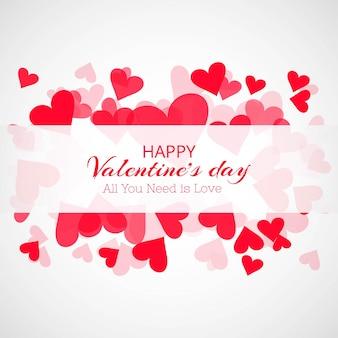 クリエイティブなバレンタインデーの心臓カードの背景