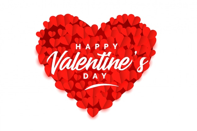 Creative valentines day red heart stylish background