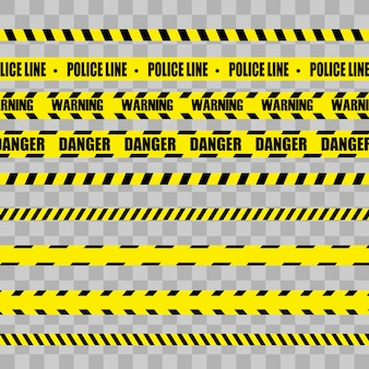 Creative vector illustration of black and yellow police stripe border.