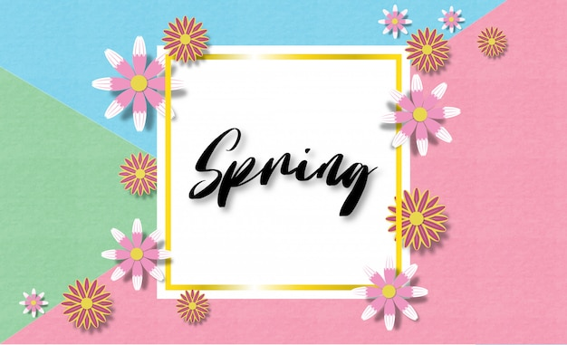 Creative vector illustration colorful spring background