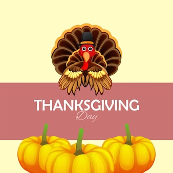 Creative vector illustration of happy thanksgiving day background