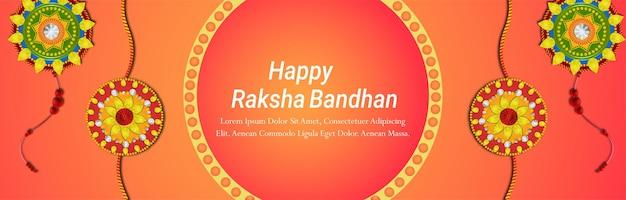 Creative vector illustration of indian festivalhappy raksha bandhan