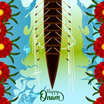 幸せなオナムの創造的なベクトルイラスト