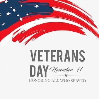 Creative vector illustration of veterans day.