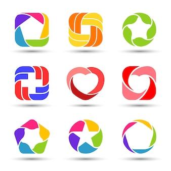 創造的なベクトルのロゴテンプレートパック抽象的な記号モダンなシンボルアイデンティティグラフィック要素セット