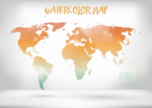 Creative vector map of the world.