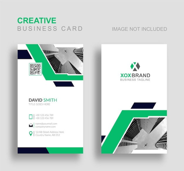 Креативная вертикальная визитка