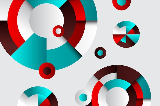 Creative wallpaper with geometrical gradient shapes