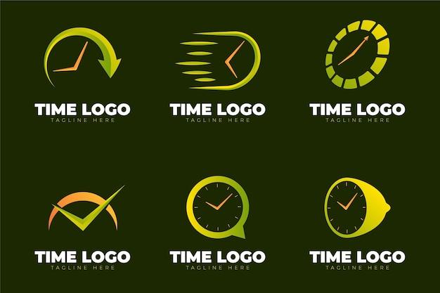크리에이티브 시계 로고 템플릿