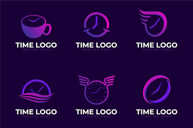 Modelli creativi di logo dell'orologio