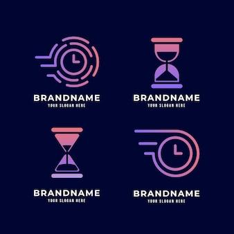 Креативные шаблоны логотипов часов