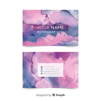 Creative watercolor abstract business card