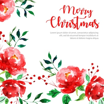 Creative watercolor christmas background