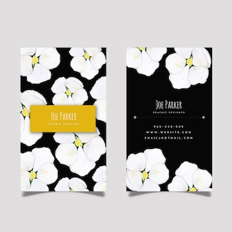 Creative watercolor floral business card