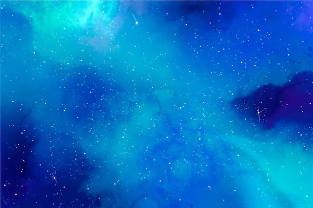 Creative watercolor galaxy background
