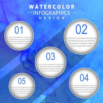 Creative Watercolor Infographics Design